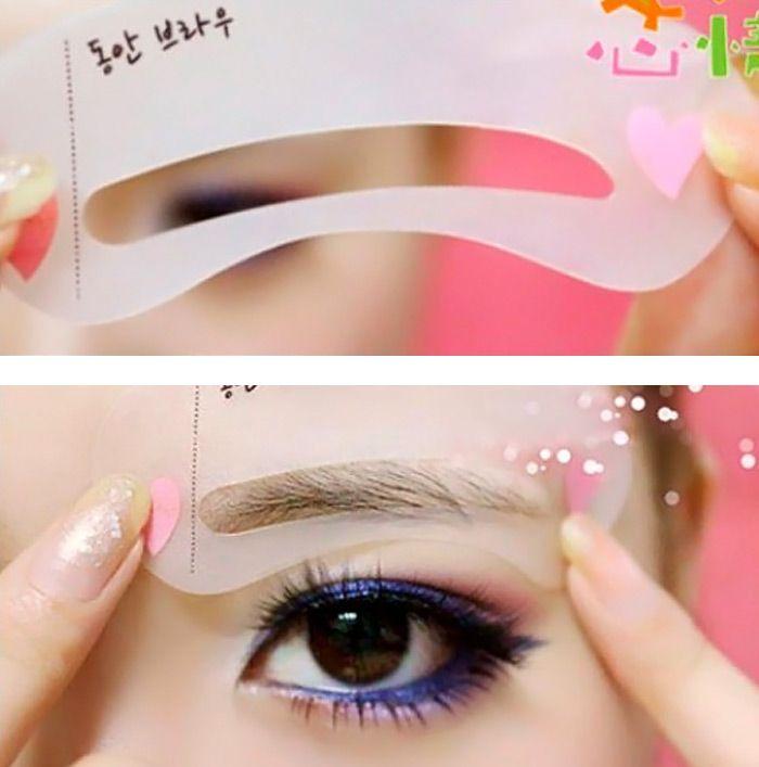3pcs / Set Eyebrow Stencil Tool Eye Brow Template Shaper Make Up Tool