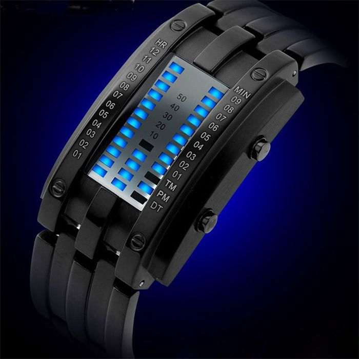 Waterproof Watch with Blue Light Time-Date Indicate Steel Watchband for Women