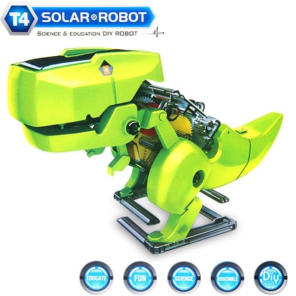 CUTE SUNLIGHT 2125 T4 Educational DIY 4 in 1 Solar Robot Kits Puzzling Toy