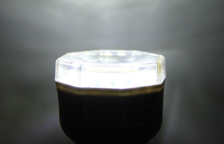 AL101 Infrared Human Body Inductive E27 Base 3W Lamp 24 LEDs Auto PIR Light
