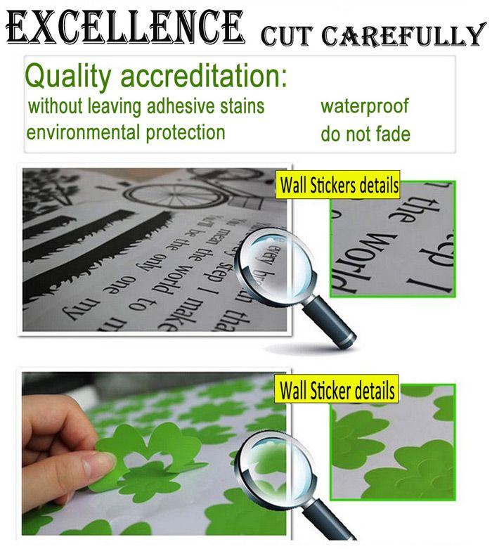 3pcs 0346 Free Combination Footprints PVC Sticker for Home Decoration