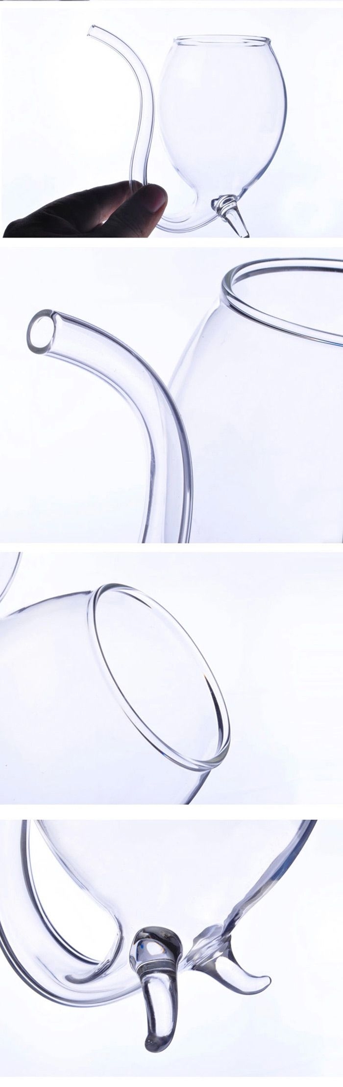 300 ML Transparent High Borosilicate Glass Novel Vampire Devil Red Wine / Juice Cup