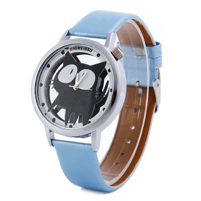 Shiweibao A Cat Design Transparent Dial Quartz Watch Review