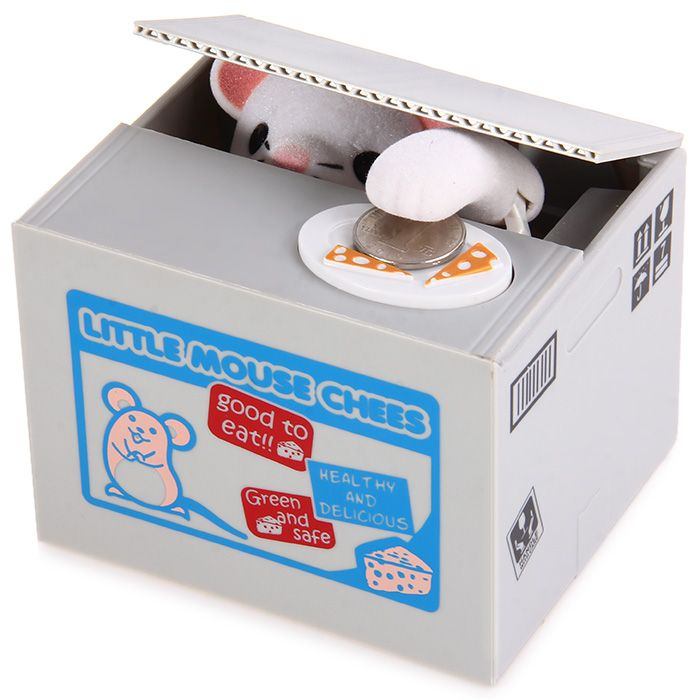 Innovative Stealing Coin Mouse Piggy Bank / Money Pot Birthday Gift for Coins Collection