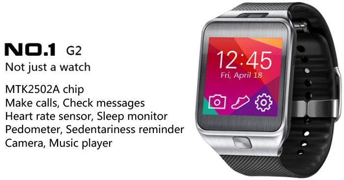 NO.1 G2 Smartwatch Bluetooth Watch Passometer Touch Screen Answer