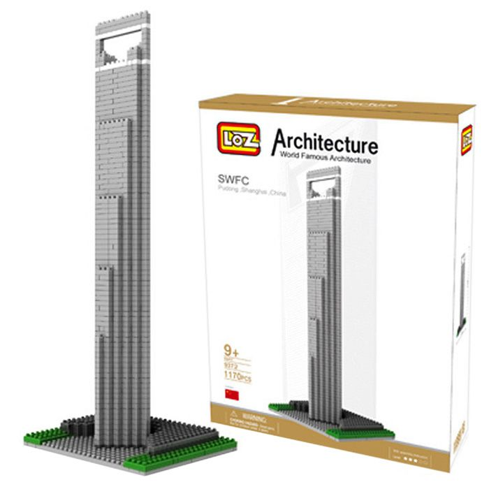 LOZ 1170Pcs 9372 Shanghai Financial Center Building Block Educational Kid Toy - World Great Architecture Series