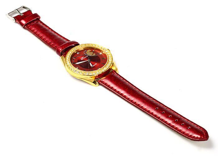 Prema Female Quartz Watch Diamond Bezel Leather Watchband