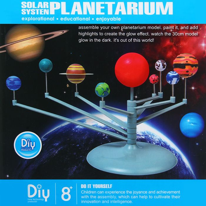 CUTESUNLIGHT 2135 Assembly Glow Solar System Planetarium Model Educational Toy Imagination Training