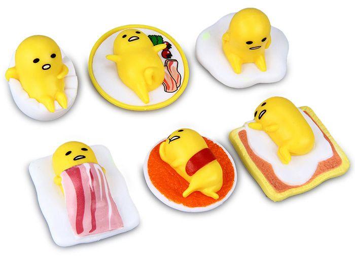 6Pcs Gudetama Character PVC Children Toy Christmas Present