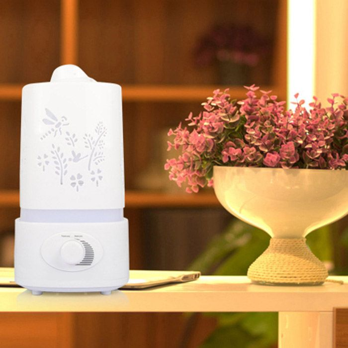 5 in 1 Ultrasonic Aroma Humidifier Aroma Oil Diffuser Air Purifier Ioniser LED Light Lamp 1.5L