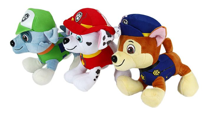 6Pcs 7 inch Characteristic Plush Toy Decoration Gift with Suction Cup