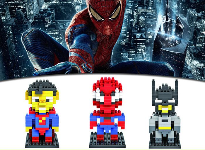 LOZ 130Pcs Spider-man Building Block Creative ABS Material Kid Toy M - 9154