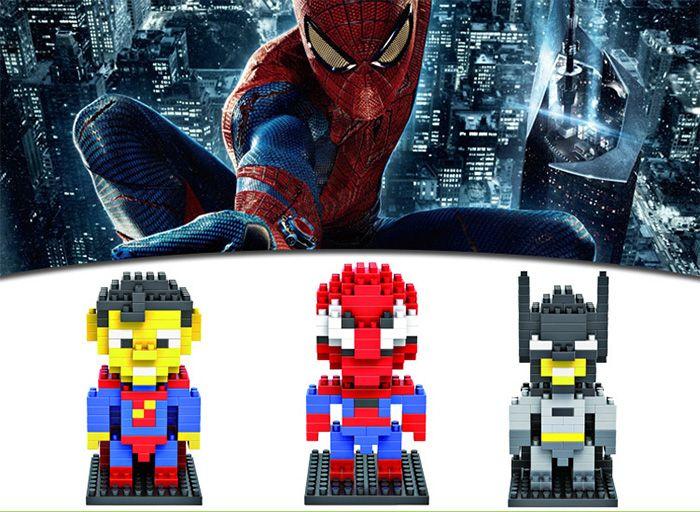 LOZ 130Pcs Spider-man Building Block Creative ABS Material Kid Toy M - 9154