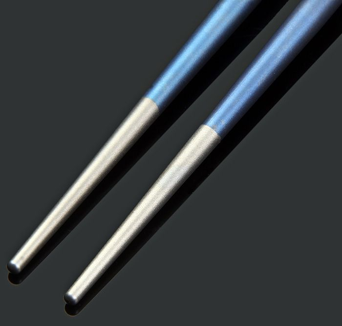 Keith Ti5631 Blue Titanium Alloy Chopsticks with Round Shape