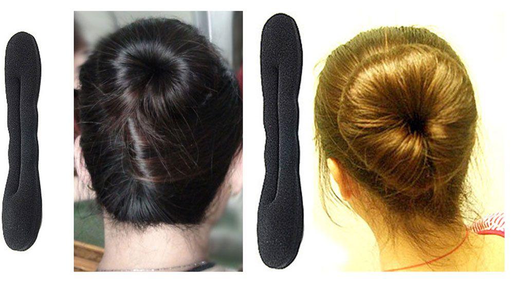 Han Edition Hair Twister Styling Bun Making Tool Black Sponge Roller Hairdisk for Women
