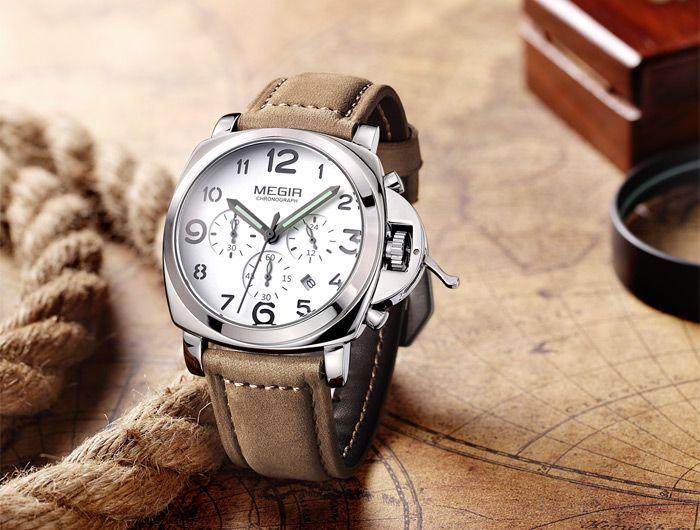 MEGIR 3778 Male Quartz Watch with Date Function