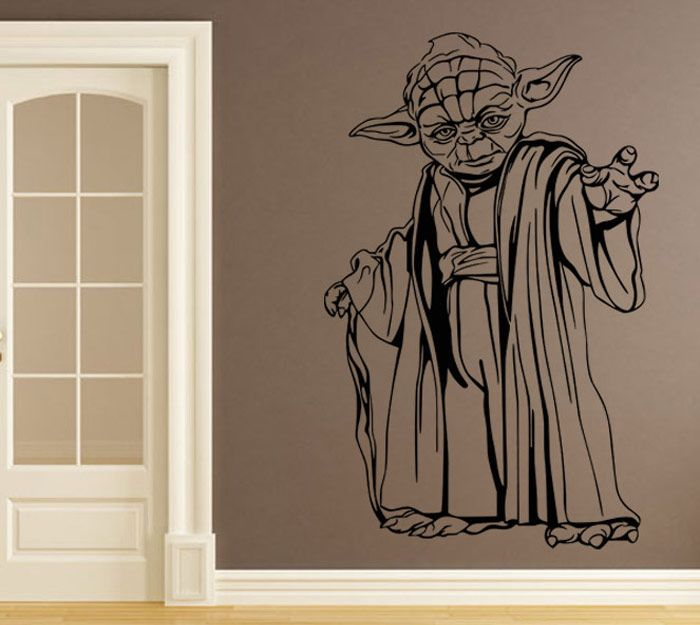 w-22 YODA Style Removable Wall Stickers Water Resistant Home Art Decals