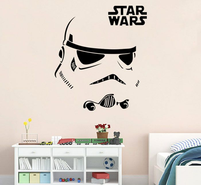 w-12 Stormtrooper Style Removable Wall Sticker Water Resistant Home Art Decals
