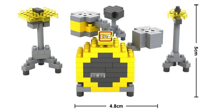 LOZ M - 9188 Mini Building Block Drum Set Intelligent Toy 140Pcs / Set