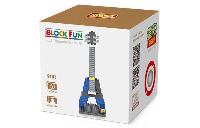 LOZ M - 9191 Mini Building Block Blue Electric Guitar Intelligent Toy 120Pcs / Set