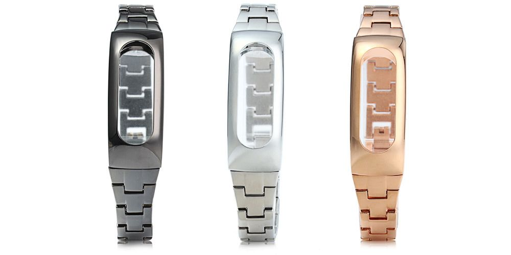 Stainless Steel Strap Anti-lost Design Wristband