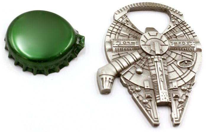 2 in 1 Millennium Falcon Style Zinc Alloy Bottle Opener Novel Key Ring