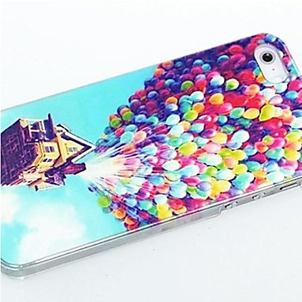 Kinston Colorful Balloons Pattern Hard Back Cover Case for iPhone SE / 5 / 5S