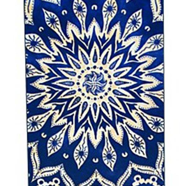 Kinston Blue Sunflower Pattern PC Phone Back Cover Case for iPhone SE / 5 / 5S