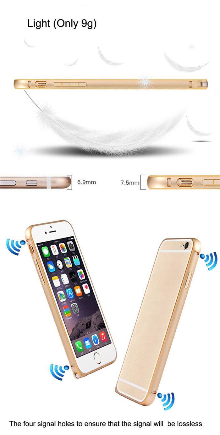ASLING Ultra Slim Phnom Penh Metal Bumper Frame Phone Cover for iPhone 6 / 6S - 4.7 inch