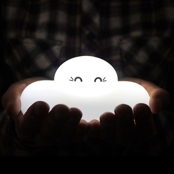 Fashion Bedside Lamp Cartoon Cloud Shape Touch Sensing LED Night Light