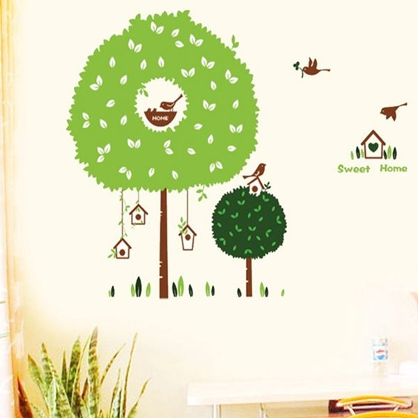Fashion Tree House Pattern Wall Sticker For Bedroom Livingroom Decoration