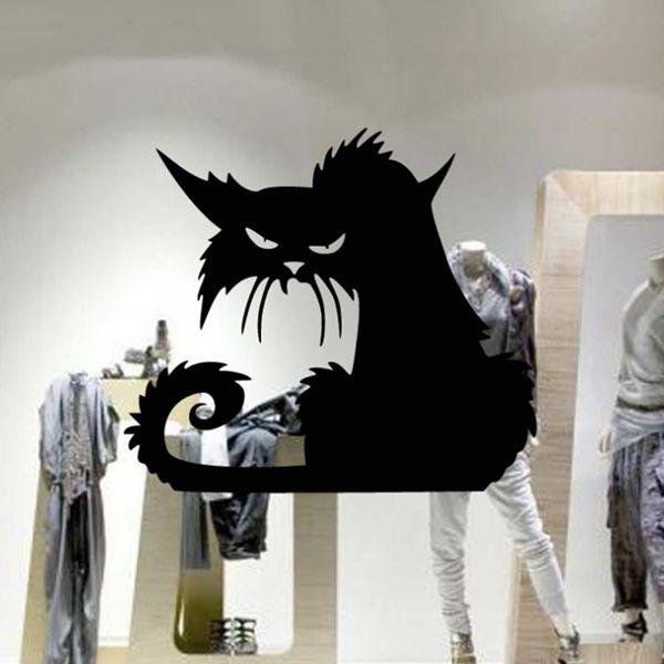 Cartoon Black Cat Pattern Wall Sticker