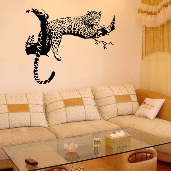 Leopard Pattern Wall Sticker Animals For Home Decoration