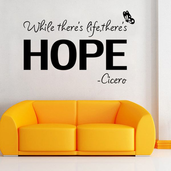 Vinly Letters Pattern Quote Wall Stickers For Bedrooms