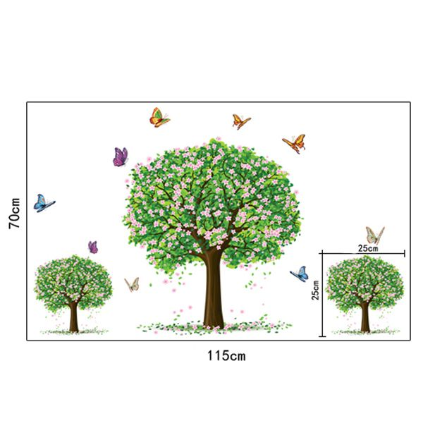 Chic Three Trees Pattern Wall Sticker For Bedroom Livingroom Decoration