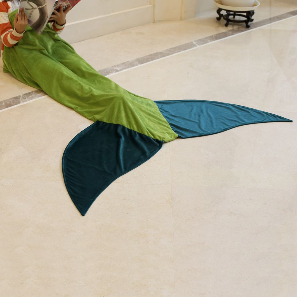 Hot Sale Comfortable Flannel Mermaid Tail Shape Blanket