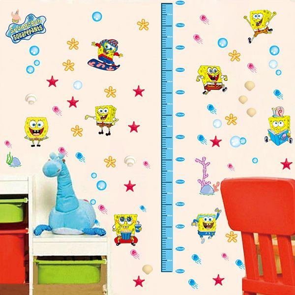Colormix Diy Spongebob Height Measurement Cartoon Wall Stickers - Spongebob wall decals