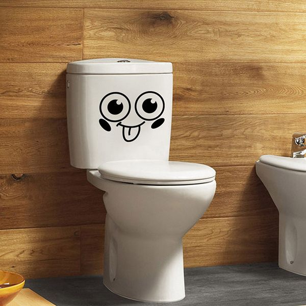 Smiling Face Pattern Toilet Wall Sticker