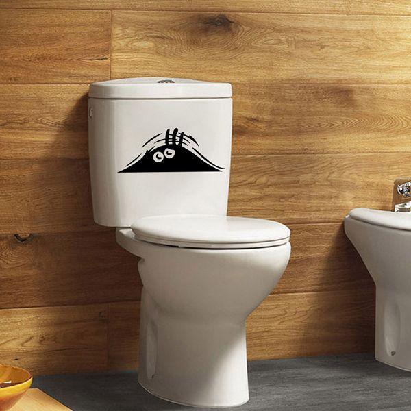 Fashion Eye Pattern Toilet Sticker For Bathroom Restroom Decoration