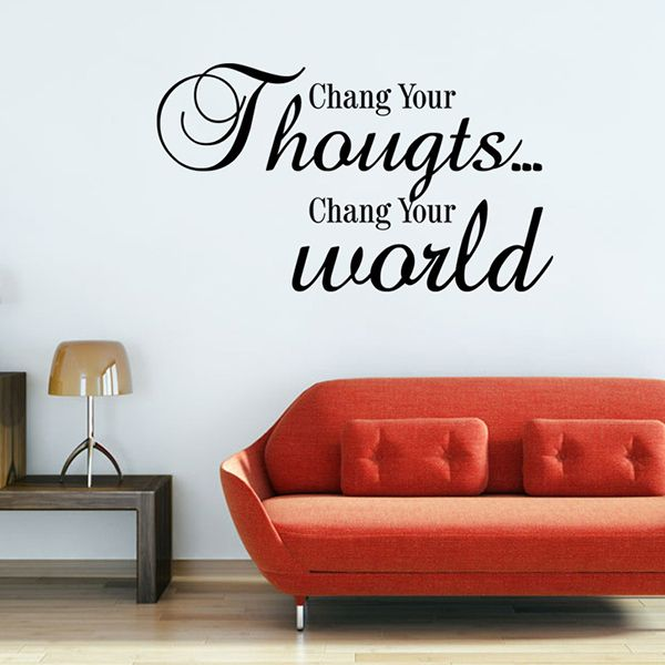Change Your World Letters Pattern Quote Wall Stickers For Bedrooms