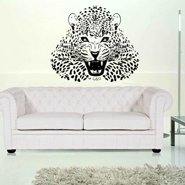 3D Leopard Vinyl Wall Art Stickers For Bedrooms