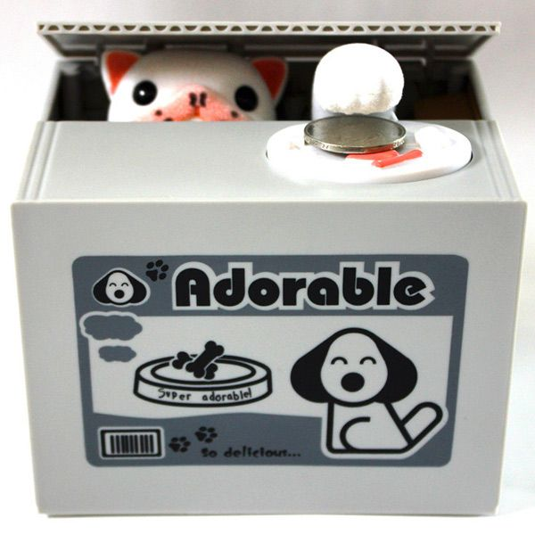 Fashion Hot Sale Cute Dog Automatic Stole Coin Interesting Piggy Bank