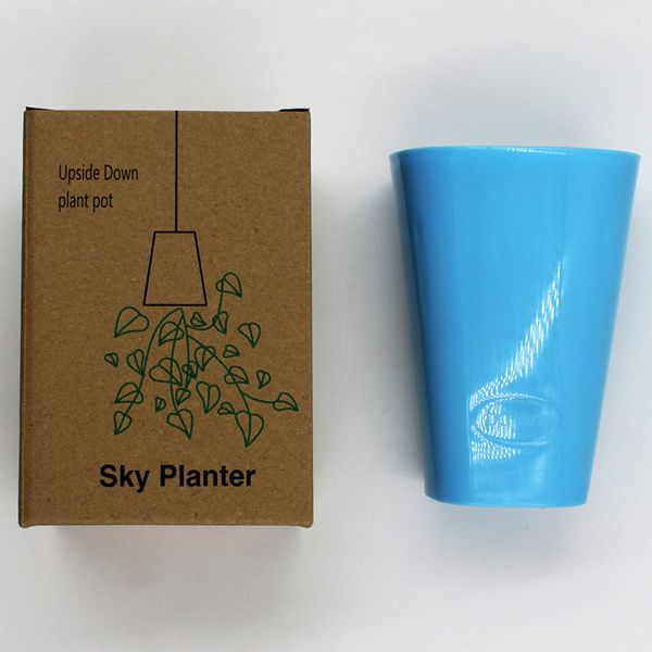 White Inversion Type Flower Pots Plastic Sky Planter For ...