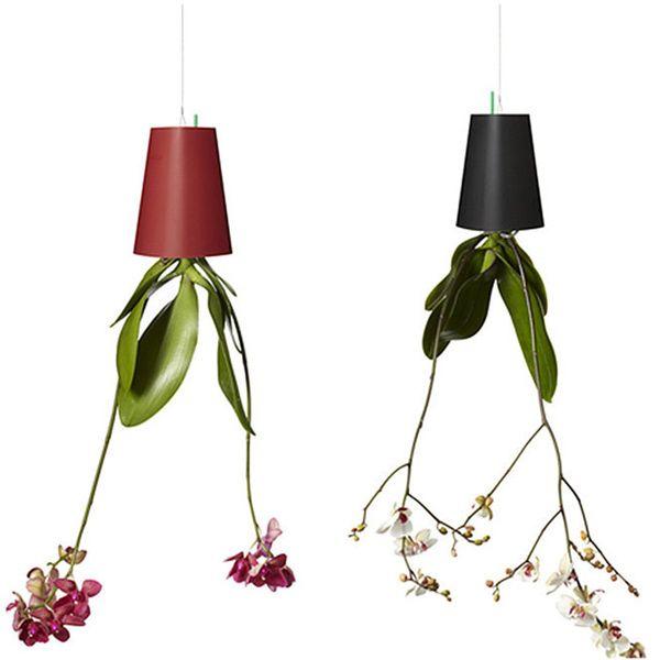 Inversion Type Flower Pots Plastic Sky Planter For Home Office Decoration