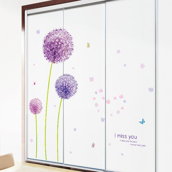 Vinyl Dandelion Pattern Wall Art Sticker