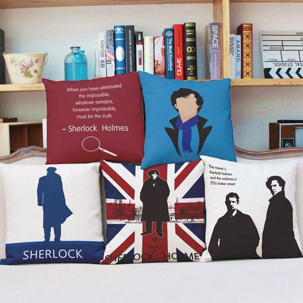 Sherlock Holmes Jack England Flag Pattern Pillowcase (Without Pillow Inner)