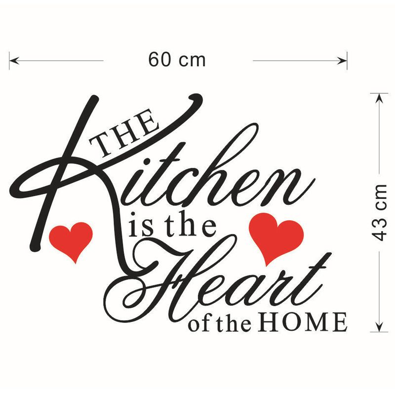 Fashion English Quotes Pattern Wall Sticker For Restaurant Kitchen Decoration
