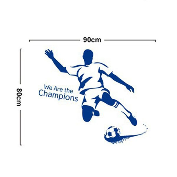 Football Boy Pattern Sports Wall Decals For Bedrooms