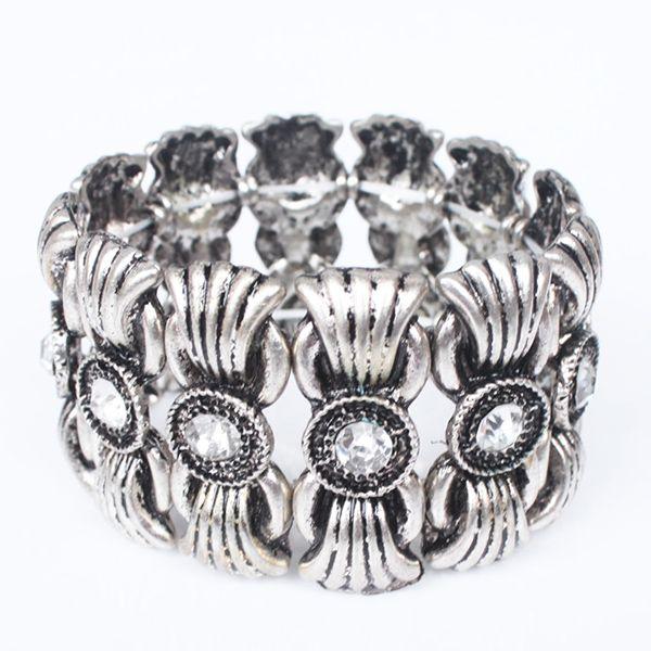 Gorgeous Alloy Rhinestoned Bracelet For Women