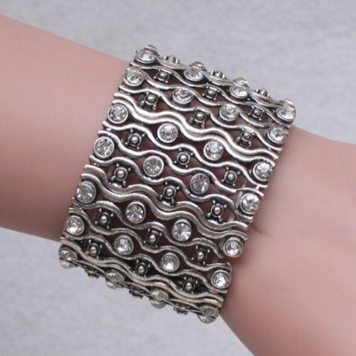 Vintage Alloy Rhinestone Bracelet